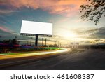 billboard blank for outdoor... | Shutterstock . vector #461608387