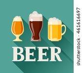 background design with beer... | Shutterstock .eps vector #461616697
