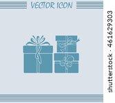 vector illustration of gift box | Shutterstock .eps vector #461629303