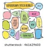 hand drawn doodle speech... | Shutterstock .eps vector #461629603