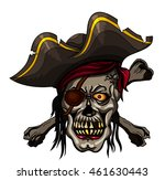 danger pirate skull in bandanna ... | Shutterstock .eps vector #461630443