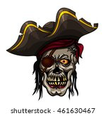 danger pirate skull in bandanna ... | Shutterstock .eps vector #461630467