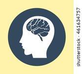 web icon of head. | Shutterstock .eps vector #461634757