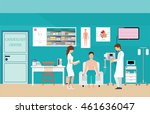 ecg test or the cardiac test ... | Shutterstock .eps vector #461636047