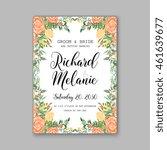 wedding  invitation or card ... | Shutterstock .eps vector #461639677