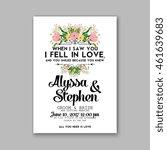 wedding  invitation or card ... | Shutterstock .eps vector #461639683