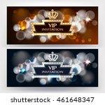 vip horizontal invitation cards ... | Shutterstock .eps vector #461648347