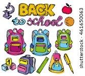 back to school big doodles set. ... | Shutterstock .eps vector #461650063