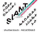 vector of stylized slanted font ... | Shutterstock .eps vector #461650663