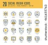 line icons set. trendy modern...   Shutterstock .eps vector #461655763