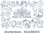 hand drawn isolated school... | Shutterstock .eps vector #461658253