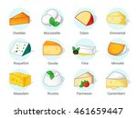 kind of cheese. cheese... | Shutterstock .eps vector #461659447