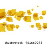vector flying autumn leaves... | Shutterstock .eps vector #461660293