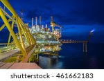 oil and gas central processing...   Shutterstock . vector #461662183