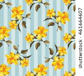 seamless floral pattern with... | Shutterstock .eps vector #461664607