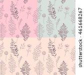 fern seamless pattern.... | Shutterstock . vector #461668267