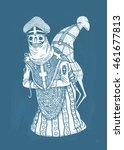 skeletons world  illustration... | Shutterstock . vector #461677813