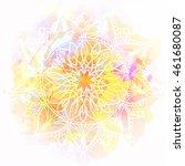 hand drawn mandala on...   Shutterstock .eps vector #461680087