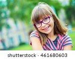 girl. teen. pre teen. girl with ... | Shutterstock . vector #461680603