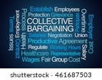collective bargaining word... | Shutterstock . vector #461687503
