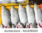 Small photo of Fresh snapper on the ice at the market.
