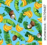 seamless pattern with banana... | Shutterstock .eps vector #461704687