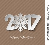 vector happy new year 2017... | Shutterstock .eps vector #461707447