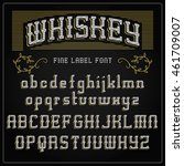 font whiskey typeface  vintage... | Shutterstock .eps vector #461709007