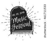 music festival. musical... | Shutterstock .eps vector #461711533