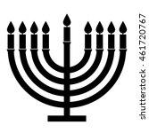 menorah symbol   black and... | Shutterstock .eps vector #461720767