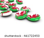 flag of wales  round buttons on ... | Shutterstock . vector #461722453