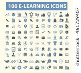 learning icons | Shutterstock .eps vector #461729407