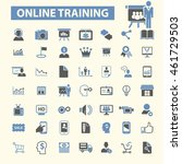online training icons   Shutterstock .eps vector #461729503