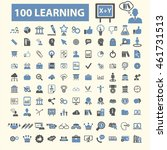 learning icons | Shutterstock .eps vector #461731513