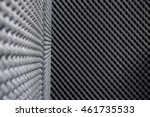 Small photo of Close up, Background of studio sound acoustical foam