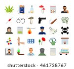 drugs and addiction flat... | Shutterstock .eps vector #461738767