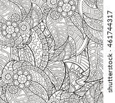 hand drawn seamless pattern of... | Shutterstock .eps vector #461744317
