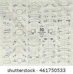 big set of 50 hand drawn doodle ... | Shutterstock .eps vector #461750533