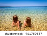 Children On Beach In Croatia...