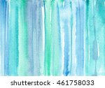 watercolor green and blue... | Shutterstock . vector #461758033
