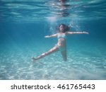 girl under water | Shutterstock . vector #461765443