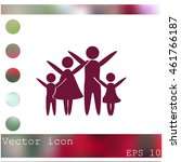 family vector icon | Shutterstock .eps vector #461766187