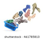 clothing is flying from the... | Shutterstock . vector #461785813