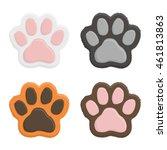 set kitten paws. animal cat paw ... | Shutterstock .eps vector #461813863