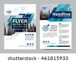 blue brochure layout design... | Shutterstock .eps vector #461815933