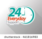 24 everyday support graphic... | Shutterstock .eps vector #461816983