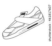 flat design single sneaker icon ...