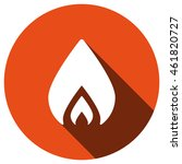 fire icon  vector  icon flat
