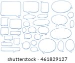 set of different shapes and... | Shutterstock .eps vector #461829127