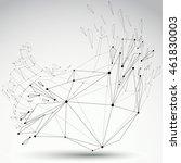 3d vector digital wireframe... | Shutterstock .eps vector #461830003